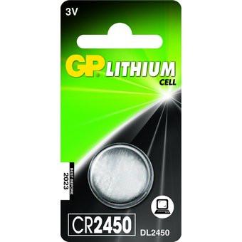 Knapcelle batteri GP CR2450