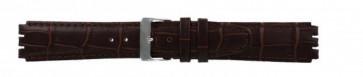 Rem til Swatch ægte læder mørkebrun 17mm 21414
