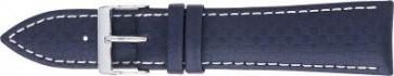 Carbon urrem mørkeblå med hvid syning 24mm PVK-321