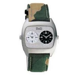 Dolce & Gabbana urrem 3719240255 Læder/Tekstil Grøn 22mm + syning beige