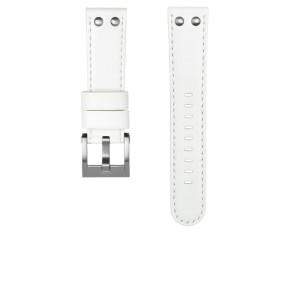TW Steel urrem CEB108 Læder Hvid 22mm + syning hvid
