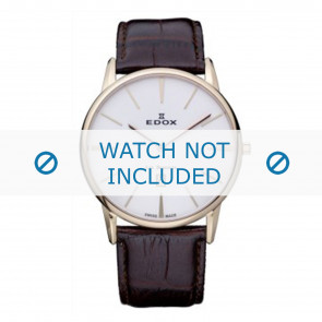 Edox urrem 26023-37R-BR Læder Brun 22mm + standard syning