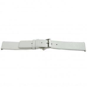 Urrem læder hvid 26mm EX-J510