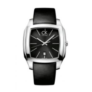 Calvin Klein urrem K600.000.095 Læder Sort 20mm