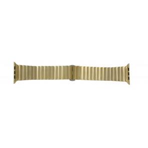 Apple (udskiftning model) urrem LS-AB-107 Stål Guld (Doublé) 42mm