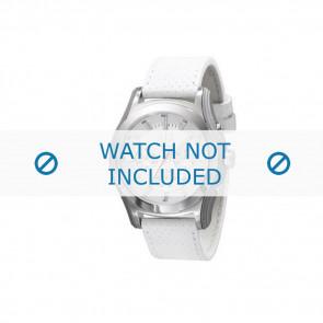 Armani urrem AX-2071 Læder Hvid 22mm