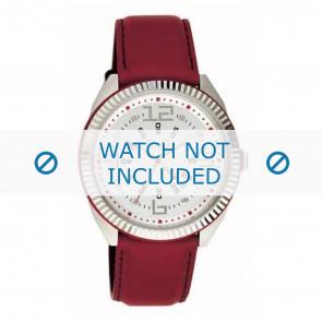 Dolce & Gabbana urrem DW0032 Læder Rød 20mm + syning rød