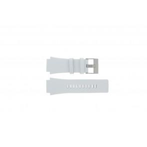 Diesel urrem DZ1449 Læder Hvid 25mm