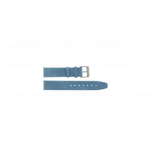 Ægte sadel læderrem blå 26mm G-33