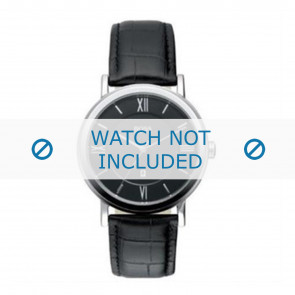 Hugo Boss urrem HB-24-1-14-2034 / HB1512093 / HB1512092 Læder Sort 20mm + syning sort