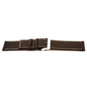 Ægte læder urrem brun 32mm EX-J43