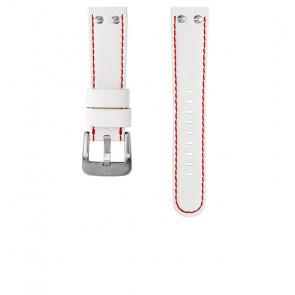 TW Steel urrem TWB39 / TW39 Læder Hvid 22mm + syning rød