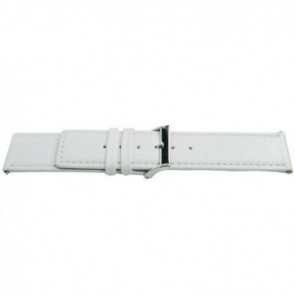 Ægte læderrem hvid 32mm