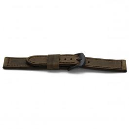 Urrem H336 Læder Brun 22mm + syning brun