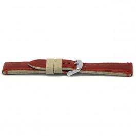 Urrem læder rød 22mm EX-H728