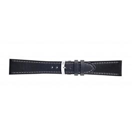 Morellato urrem Sportage X4471696019CR24 / PMX019SPORTA24 Glat læder Sort 24mm + standard syning