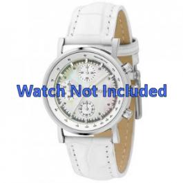 DKNY urrem NY4528 Læder Hvid 18mm + standard syning