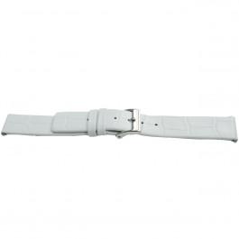 Urrem Universel H520 Læder Hvid 22mm