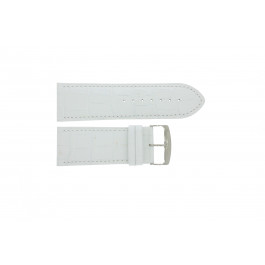 Urrem Universel 305R.09 Læder Hvid 30mm