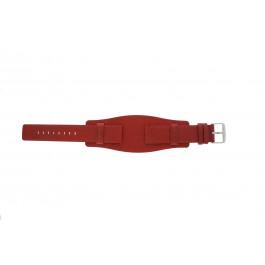 Urrem Universel B0223 Læder Rød 20mm