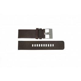 Urrem Diesel DZ1467 / Screw+Springbar Læder Brun 24mm