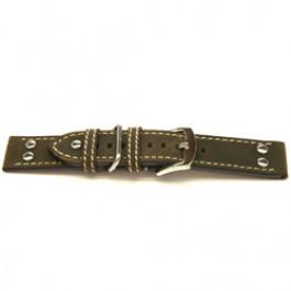 Urrem ægte læder mørkebrun 22mm H393