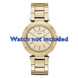 DKNY urrem NY-2286 Metal / stål Guld (Doublé) 18mm