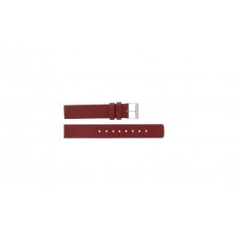 Skagen urrem 224SSLR Læder Rød 16mm