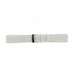 Urrem Swatch (alt.) 21414.11 Læder Hvid 17mm