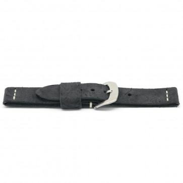 Urrem læder sort 22mm EX-H127