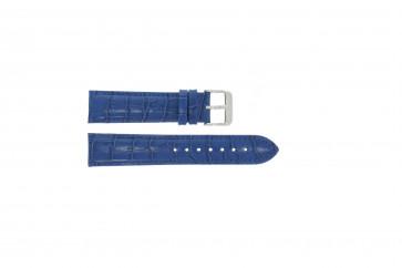 Ægte læder krokodille blå 24mm PVK-285