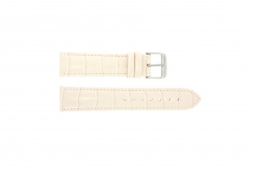 Ægte læder krokodille lyserød 22mm PVK-285