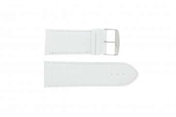 Bisonkalv læderrem hvid 24mm 305