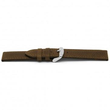 Urrem læder brun 16mm EX-E329