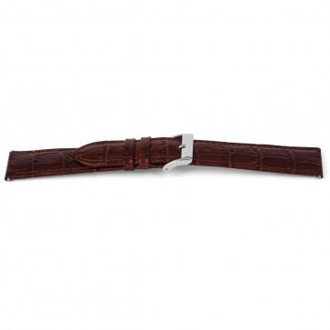 Ægte læder urrem krokodille brun 14mm EX-G62
