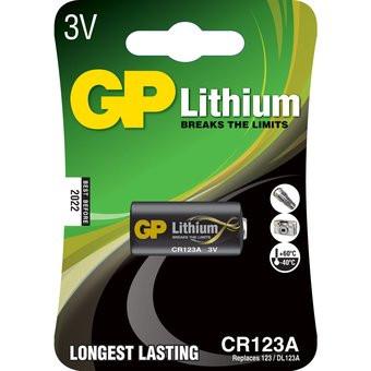 GP foto batteri 123A 3V