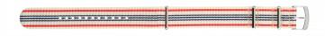 Morellato urrem Band U3972A74826CR22 / PMU826BAND22 Nylon / perlon Hvid 22mm + standard syning