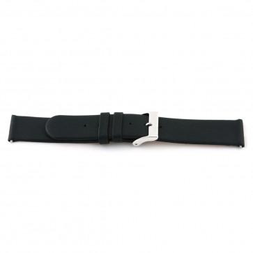 Ægte læderrem sort 22mm 800R01