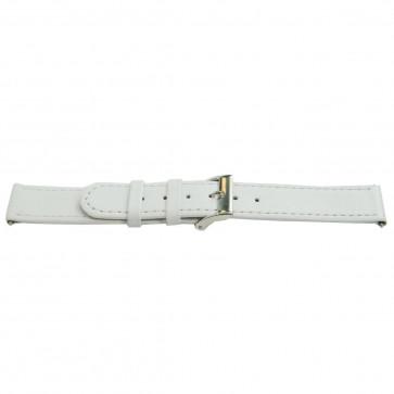 Ægte læderrem hvid 22mm