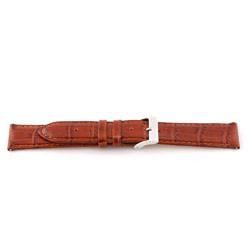 Ægte læderrem til ur cognac brun 16mm EX-G62