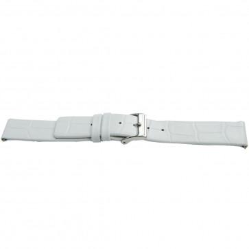 Bisonkalv læderrem hvid 22mm J-53