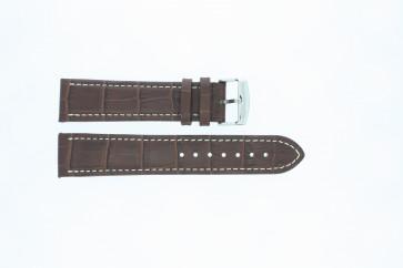 Bisonkalv medium brun med hvid syning 24mm 518