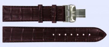 Tissot urrem T063.637.16.037.00 Læder Brun mørk 20mm + syning brun