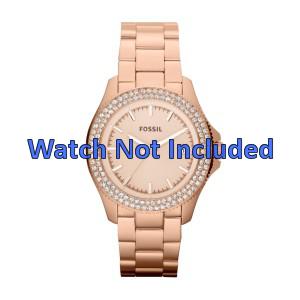 Fossil urrem AM4454 Stål Guld (Rosé) 18mm