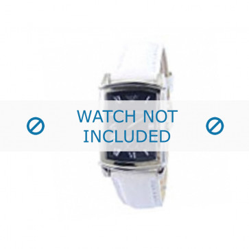 Armani urrem AR-0261 Læder Hvid 20mm