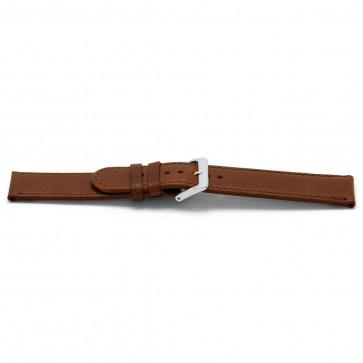 Urrem D401G Læder Brun 14mm + syning brun