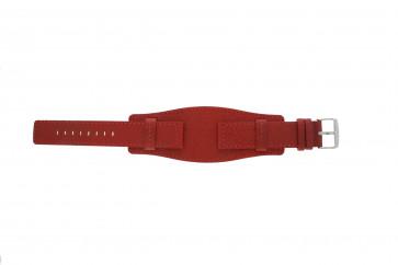 Davis urrem B0223 Læder Rød 20mm