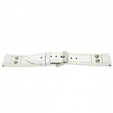 Urrem Universel H525 Læder Hvid 22mm