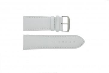 Urrem 306.09 Læder Hvid 24mm + standard syning