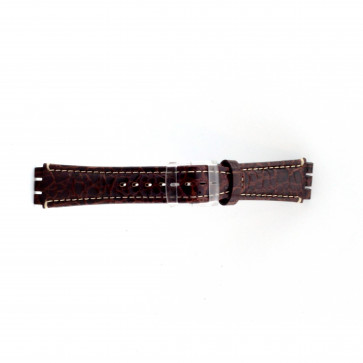 Ægte læder urrem til Swatch krokodille brun 19mm ES- 2.02